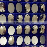 17x24mm super shining oval shape crystal beads with hole for garment