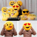 Emoji Expression Pillow Home Decor Cushion Children's Gifts Round Stuffed Plush Toy Doll Soft Smile Pillow