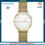 FS FLOWER - Gold Plated High Quality Mesh Band Watch Return Gifts For Birthday For Young Men Women Lover