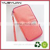 2016 Women Travel Pouch Organizer Hot Pink Passport Bag