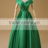 New Fashion v neck green cheap puffy ball gown prom dresses made in China 2015 AEW0199