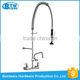 OEM&ODM brass wall mounted dual handle waterfall bathroom shower commercial faucet sprayer