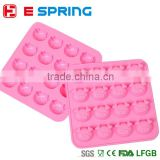 16 even Pigs Shape 3 Fondant Cake Mould Jello Soap Sugar Candy Birthday Cake Mould 3D silicone Cake Mold