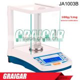 High Precision Digital Laboratory Weighing Balance Scales JA1003B Electromagnetic Sensor