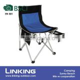 portable folding chair with magazine bag