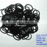 Professional Competitive price Nice quality loom band / Black Rubber Band - Mini Color Rubber Ring Band