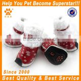 JML 2014 waterproof red dog boots for pet winter dog booties fleece lining shoes for dogs