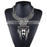 New Collar Jewelry European Style Vintage Trench Fashion Necklace Rivet Tassel Punk Accessories Women