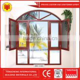 Style aluminum 304L stainless steel double layer glass casement window models with handle for family