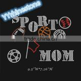 Baseball Basketball Soccer Sport Mom rhinestone transfer