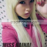 Bestselling cheap cosplay wigs 2015 Wholesale synthetic wigs long white straight hair wigs
