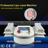 Beauty products! 10 pads with 650nm portable laser liposuction fat belly burning machine