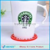 Promotion gifts starbucks PVC cup mat,food grade PVC pot holder,table accessories PVC placement