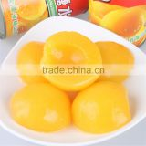 Canned Yellow Peach in slices, halves and dices