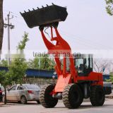 Shandong machinery wheel loader tractor with farm attachments backhoe typr loader 2000kg