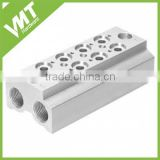 china factory custom Aluminium Manifold Base for 10mm 3/2 Valve from VMT factory