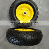 EL-650 300 mm rubber wheels / 13 inch 5.00-6 pneumatic solid turf mower wheel