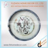 Decorative blown glass plate wall art printing flowers