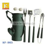 Golf barbeque soft grip handle bbq tool set