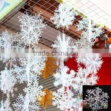 Cheap 3pcs 11 15 18 22cm plastic New Classic White Snowflake Ornaments Christmas Holiday Party Home Decoration