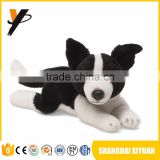 Custom design spot black and white stuffed plush dogs with red heart custom design dog
