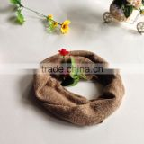Acrylic coffee color fashion winter knitting scarf/neck warmer factory