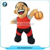 Custom 20cm black American stuffed boy rag doll soft basketball athlete plush doll toy