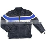 KIDS COLLECTION LEATHER JACKETS BLUE BLACK COAT