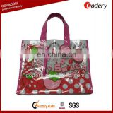 wholesale cheap printed eco-friendly transparent PVC Tote Bag
