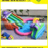 Commercial octopus Inflatable water park 3 in 1 inflatable slide pool