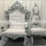 PU leather modern wedding banquet baroque high back chair for sale