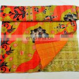 professional quilt manufacture yellow floral kantha comfortable hotel bedspreads