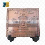 3D custom brass vietnam science hall souvenir license plate of honour