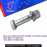 Hino rear wheel bolt with nut for Hino trucks GH