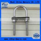 Stainless Steel SS304/316 U-Bolt With Two Washers And Nuts Pipe Clamp Bolt                                                                         Quality Choice
