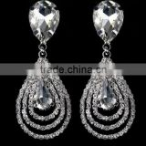 Crystal Rhinestone Earring aretes para Mujer Novia Shinny Luxury with best price Chicas Muchachas