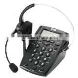 headset telephone with recording devices