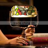 Tiffany lamp butterfly bank lamp stained glass reading glass table lamp tiffanylamp