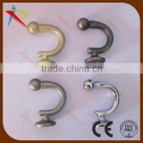 Pair Of Quality Curtain Tie Back, Hold Backs Black Chrome Brass Metal Screw Hooks                                                                         Quality Choice