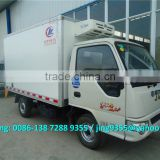 JAC 1-2 TON mini petrol freezer box truck, ice cream transportation freezer truck body for sale