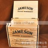 Decoration and Wine Aging Product Type and Wood Material Box cheap wooden wine crates for sale