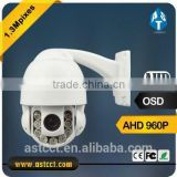 1.3 Megapixel AHD PTZ Camera with coaxial cable 10X optical zoom mini PTZ Camera wholesale 960P AHD IR High Speed Dome Camera