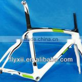 FLX-FR-308P Full Carbon (painted White Green) Road Bike Frame Fork Seatpost Headset 50cm, 54cm, 56cm