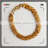 brass/alloy plating gold silver bracelet for man                                                                         Quality Choice