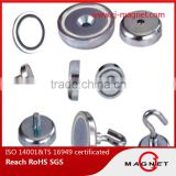 hook permanent ndfeb/neodymium magnet certificated by ISO14001, ISO9001, ISO/TS16949, professional manufacturer