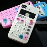 for apple iphone 4 4s 5g silicone case,For iPhone 5 5g soft silicone case 3d calculator design