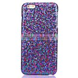 Glitter Powder Leather Coated Hard Plastic Cover for Apple iphone se/5s