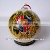 Inside painting fine glass Christmas ornament ball