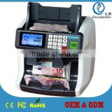 Two Pocket Money/Banknote/Currency/Cash/Notes Counter/Sorter/Discriminator/Detector Machine