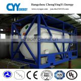 20ft 40ft LOX/LIN/Lar/LNG/LPG ISO tank container for transport bulk bitumen
